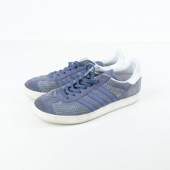 adidas Shoes   Gazelle Blue Snakeskin
